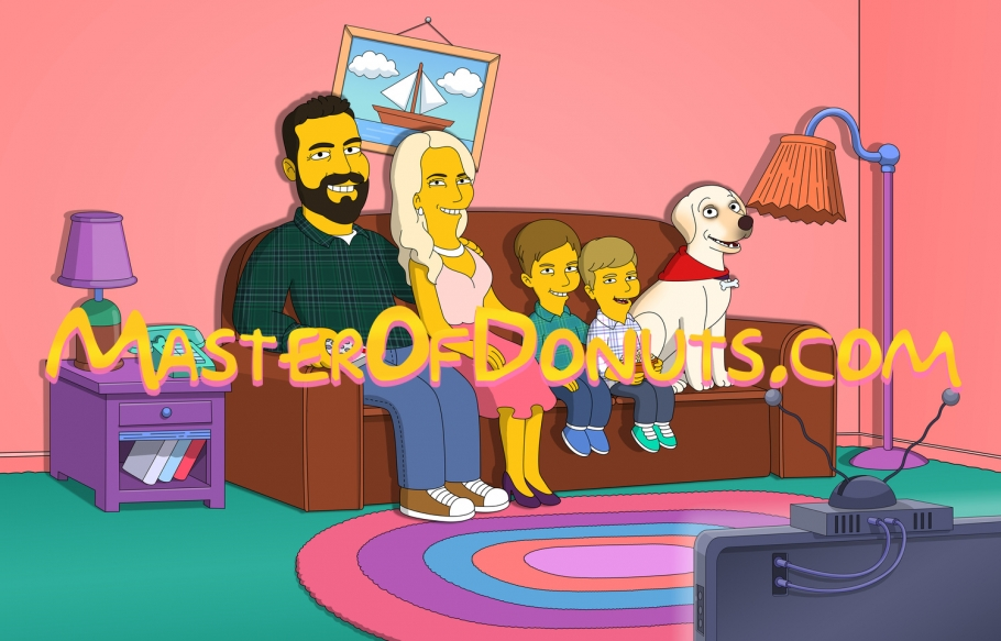 Personalised Simpsons Family Portrait