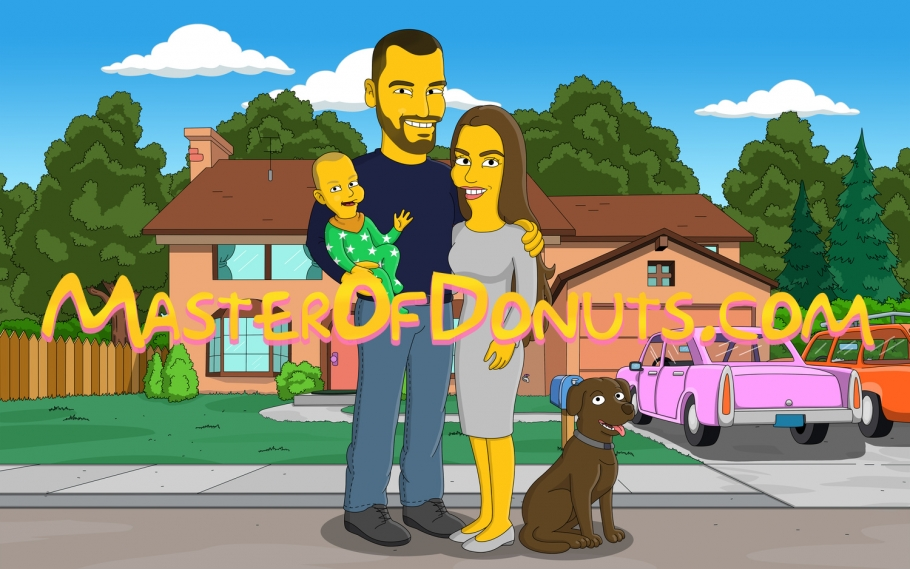 Simpsons house background