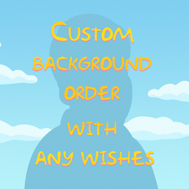 Custom background order with any wishes