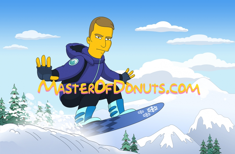 Best Gift for Snowboarder - Custom Cartoon Portrait from Photo